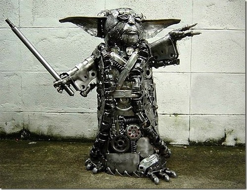 metal yoda star wars